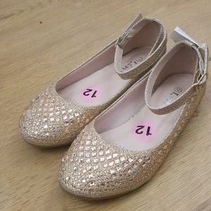 NWT Link Rose Gold Ballet Flats Size 12